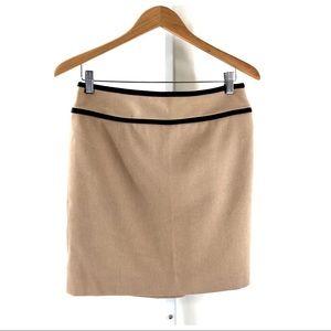 Anne Taylor Wool Blend Beige Career Skirt 6 Petite